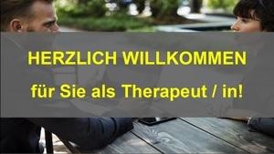 Herzlich Willkommen für Sie als Therapeut/in